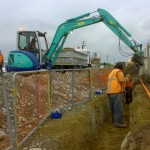 Southbrook power upgrade trench