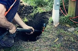 Thrust boring - installing underground utilities